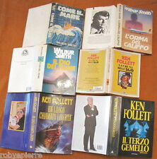 Lotto 6 libri Wilbur Smith come il mare il dio del fiume ken follett in blocco