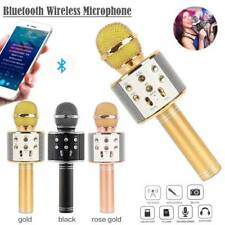 WS858 Wireless Bluetooth Karaoke Microphone Stereo Mic KTV USB Speaker Record
