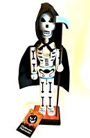 Halloween Nutcracker Grim Reaper with Cape Scythe Holiday Decor 14.5 inches