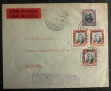 1930 Port Montt Chile First Flight cover FFC to Santiago Internal