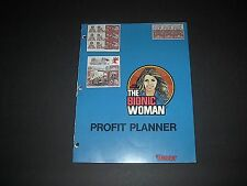 KENNER BIONIC WOMAN PROFIT PLANNER STORE DISPLAYER HTF SIX MILLION DOLLAR MAN