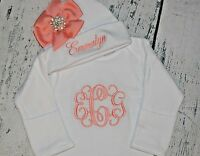 Princess Carriage Personalized INFANT GOWN and CAP Set Monogrammed