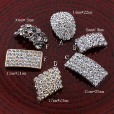 20pcs Metal Rhinestone Buttons Bling Alloy Crystal Flatback Buttons for Wedding