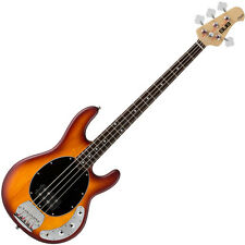 Sterling SUB RAY 4 Honey Burst Satin Active Bass Guitar -  New Boxed