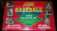 SCORE 1992 MLB Collector Set [910 trading cards] Factory Sealed