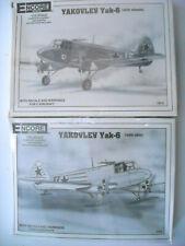 2 Encore kits Yakovlev Yak 6 with wheels kit 1019 & skis 1020 sealed 1:72 Nib
