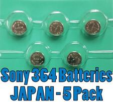 SONY 364 SR621SW   watch battery japan FRESH 621 **5 PCS**