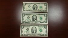 Lot of 3 Bills - 1976 & 2003 - $2 TWO DOLLAR FEDERAL RESERVE NOTE cool numbers