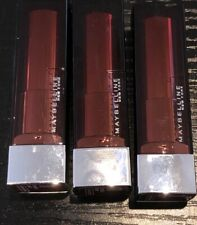 3 Pack MAYBELLINE New York Color Sensational Lipstick #111 Double Shot New