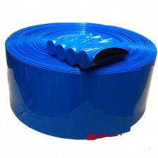 Blue Φ95mm Width 150mm Battery Sleeve Wrap PVC Heat Shrink Tubing x 1M