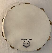 """Grover Tambourine Pro Percussion Beryllium Copper 10"""" Original Case Please Read"""