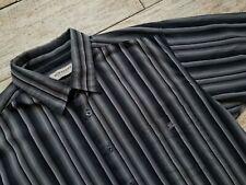 Burberry London Shirt Size XL grey/black/white striped