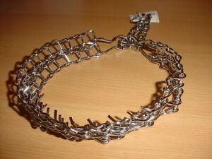 Stachelhalsband 48cm / 32mm, doppelt, verchromt