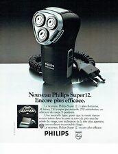 PUBLICITE ADVERTISING 126  1978   Philips   le rasoir  éléctrique  Super 12