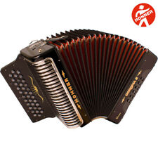 Hohner Corona II Xtreme EAD 34 Button Black Accordion with Straps and Gig Bag