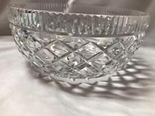 Vintage Waterford Wedge And Diamond Crystal Bowl Made in Ireland
