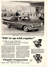 1961 CHRYSLER NEWPORT 361 V-8 ~  ORIGINAL PRINT AD