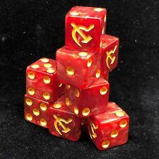 12x Soviet Russia Hammer & Sickle Dice Set 16mm RPG War Game D6 WWII Communist