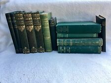 40 Vintage Antique Books * Decorative Display Light / Dark Green Theme, Library