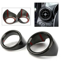 Carbon Fiber Indoor Dashboard Air Vent Outlet Trim For Alfa Romeo Giulia 2017-18