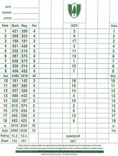 D'impression A5-pine valley golf club score card (blank replica photo poster art)