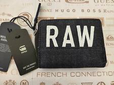 G-STAR RAW Zipper Wallet DEPAX Navy Zip Coin Canvas Billfold Wallets BNWT RRP£35