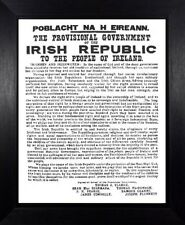 1916 PROCLAMATION OF THE IRISH REPUBLIC EASTER UPRISING IRELAND FRAMED PRINT 121