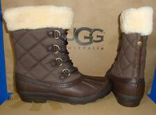 UGG Australia NEWBERRY Stout Brown Waterproof Event Boots Size US 10 NIB #3224
