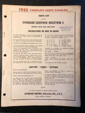 1955 Evinrude Lightwin Ducktwin 3, 3014 3015 3016 Outboard Motor Parts Catalog