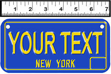 PERSONALIZED ALUMINUM MOTORCYCLE STATE LICENSE PLATE-NEW YORK 1969