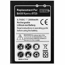 HIGH CAPACITY REPLACEMENT BATTERY FOR SONY ERICSSON XPERIA U ST25i