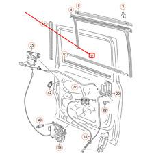 Puerta corredera junta VW Sharan 7n derecha sonda einklemmschutz 7n0839718ad