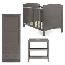 Obaby Grace 3 Piece Room Set (Taupe Grey) Wooden Nursery Furniture