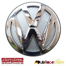 VW GOLF MK5 Silver Carbon Fibre - REAR Badge Inserts. GTI TSIDubrace