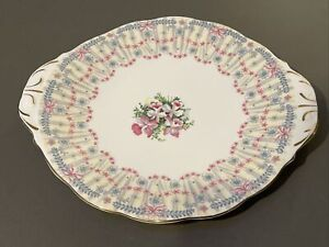 Queen Anne Royal Bridal Gown English Fine Bone China Cake Plate