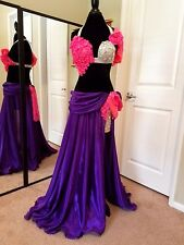 Belly Dance ONE-OF-A-KIND Costume PROFESSIONAL DESIGNER - PURPLE - 1 Available