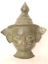 1900's antique bronze figurine  face mask / display piece decorative