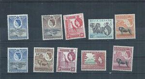 Kenya, Uganda & Tanganyika stamps. 1954 QEII series to 1s MH plus  (P557) KUT
