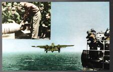 Doolittle B-25 bombers leave USS Hornet CV-8 for raid on Japan postcard