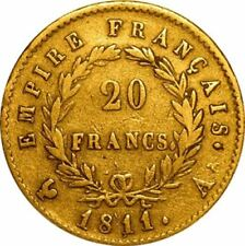 20 Franc French Gold Coin Avg Circulated - Random Year
