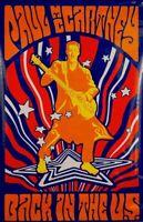 PAUL McCARTNEY 2002 BACK IN THE U.S. ORIGINAL PROMOTIONAL POSTER / NMT 2 MNT