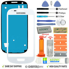 Samsung Galaxy S3 Mini Front Glass Lens Screen Replacement Kit White + UV Glue
