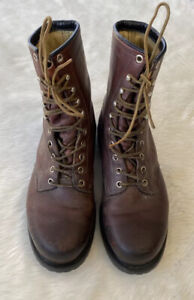 Mens Vintage Irish Setter Red Wing Work Boots Size 8