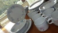 Stoneware Dinnerware Set Tender Bloom Studio Nova Mikasa service 7 + 30pcs