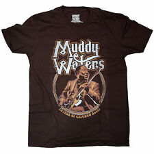 Muddy Waters T Shirt - Father Of Chicago Blues 100% Official Blues Guitar