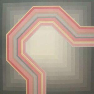 Abstract shape wall art, 80's abstract art, 61x61cm, optical wall art