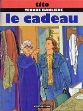 EO TITO + TENDRE BANLIEUE 7 + MAGNIFIQUE DESSIN ORIGINAL PLEINE PAGE : LE CADEAU
