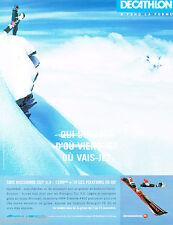 PUBLICITE ADVERTISING 065  2001  ROSSIGNOL    les skis CUT 9.9