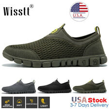 Mens Running Walking Shoes Sports Tennis Casual Sneakers Mesh Outdoor Slip On D