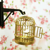 Metal Bird Cage With White Bird For 1/12 Dollhouse Miniature Kis Toy Doll Gift
